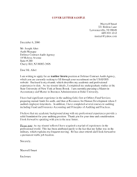 cover letter examples of cover letter for resumes examples of