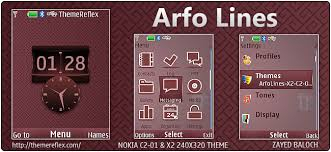 nokia x2 themes free download mobile9 arfo lines theme for nokia x2 00 c2 01 240 320 updated