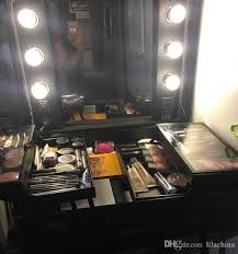 Makeup Artist Light Rolling Studio Makeup Artist Cosmetic Case W 6x 40w Light Bulb