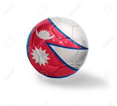 Pics Of Nepal Flag Football Ball With The National Flag Of Nepal On A White