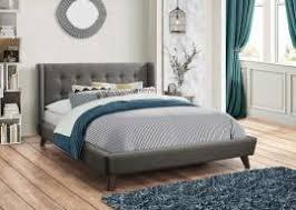 california king fabric wood headboard platform bed frame san diego