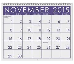 2015 calendar month of november stock illustration image 45462247
