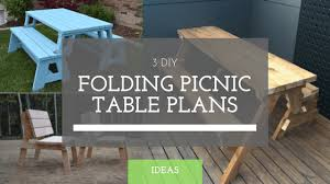 Folding Picnic Table Plans 3 Folding Picnic Table Plans Diy Guides Unframed Workshop