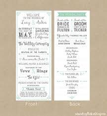 Programs For Weddings Wedding Invitation Programs Vertabox Com