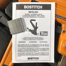 Bostitch Mfn 201 by 100 Bostitch Floor Stapler Jammed Dewalt Pneumatic 16 Gauge
