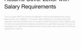 Paralegal Cover Letter Salary Requirements best how to includealary requirements in cover letter about