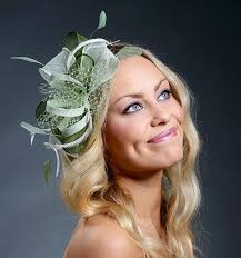 bridal accessories melbourne green fascinator hat for weddings derby ascot melbourne cup etc