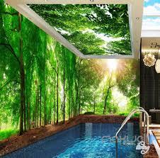 3d green sunshine forest deer entire living room wallpaper wall 3d green sunshine forest deer entire living room wallpaper wall mural art prints idcqw 000178