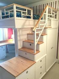 Bunk Beds With Built In Desk Chic Bunk Bed Drawers Ideas Wardrobes Loft With Stairs Closet