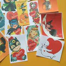 halloween journal vintage halloween stickers set of 14 handmade stickers