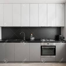 gray kitchen cabinet with black countertop modern gray and white kitchen unit and black worktop