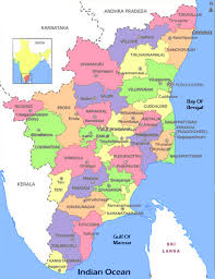 tamil nadu map tamilnadu district map