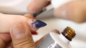 chisel nail art demo youtube