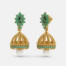 gold jhumka earrings buy gold jhumka earring designs online in india 2018 bluestone