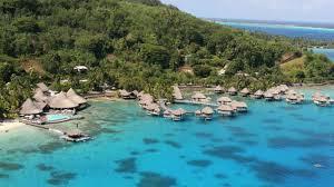 Tiki Hut On Water Vacation Bora Bora Island Overwater Bungalows And Water Villa Resorts