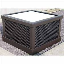 Square Metal Planter by 26 Inch Square Outdoor Planter Box Expanded Metal Mesh