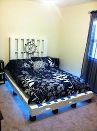 pallet bed frame with lights lights queen size wooden pallet bed