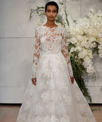 wedding dress with sleeves sleeve wedding dresses at bridal fashion week 2018