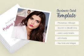 makeup artist business card template by design bundles