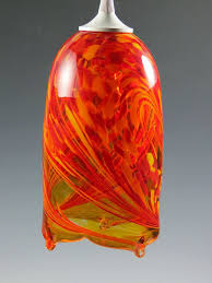 Blown Glass Light Pendants Flame Pendant Light By Mark Rosenbaum Art Glass Pendant Lamp