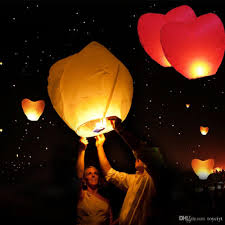 sky lanterns chinese paper air balloons candle wishing wedding