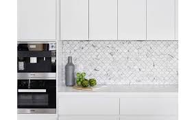 Modern Kitchen Marble Backsplash With Kitchen With Glass And - Modern backsplash