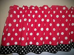 Black And White Polka Dot Valance Amazon Com Polka Dot Draperies U0026 Curtains Window Treatments
