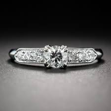 deco engagement ring 33 carat diamond deco engagement ring