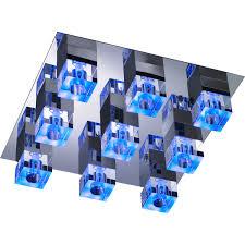 colour changing led ceiling lights wofi quado colour changing 9 light led ceiling light next day