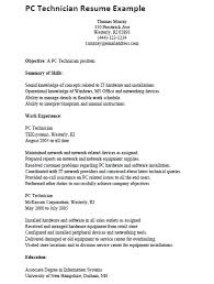 computer technician skills resume cover letter intended for entry