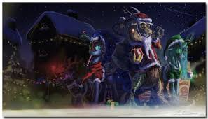 10 mixed christmas eve wallpapers anime games traditional