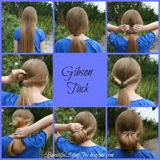 tuck in hairstyles gibson tuck hair tutorial using a lilla rose flexi hair clip