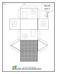 Shape Of House by Shape Printables House Net 2 Drawn Geometric Designs And Crafts