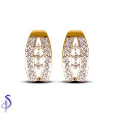 daily wear diamond earrings galaxy daily wear diamond earrings shashvat jewels pvt ltd