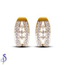 daily wear diamond earrings galaxy daily wear diamond earrings shashvat jewels pvt ltd