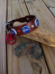 bud light beer hat bud light beer cap leather dog collar with paw by stickdogleather
