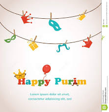 purim cards purim greeting card design stock vector