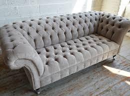 What Is Chesterfield Sofa Naples Mushroom Velvet 3 Seater Chesterfield Sofa Abode Sofas