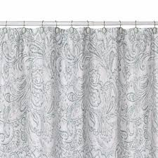 Black And White Paisley Shower Curtain - beaumont fabric shower curtain by jennifer adams curtainshop com