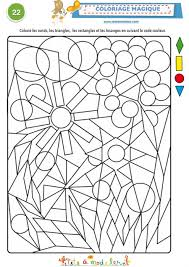 coloriage magique 22 à 4 formes géométriques tête à modeler