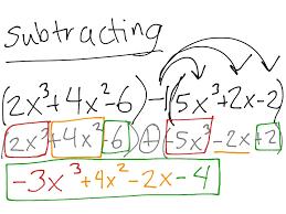 showme adding polynomials box method