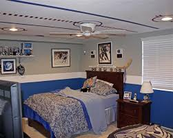 hockey bedrooms ceiling painted like a rink love this idea for a boy s room