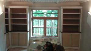 Bookshelves Around Window Yeager Woodworking Cabinetry And Home Improvements