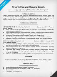 objective for a resume examples graphic designer resume sample u0026 writing tips resume companion