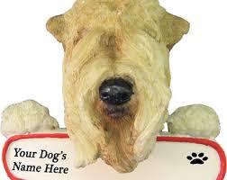 wheaten terrier ornament etsy