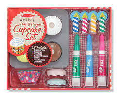 amazon com melissa u0026 doug bake and decorate wooden cupcake play