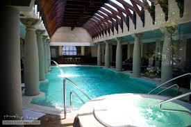 indoor pool design brown tiles floor deck appealing mosaic