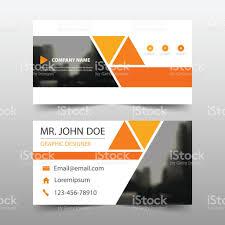 orange triangle corporate business card name card template