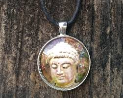 spiritual jewelry compassionate of buddha pendant necklace zen earthy earth