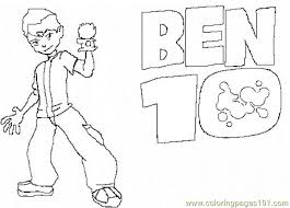 ben 10 coloring free ben 10 coloring pages